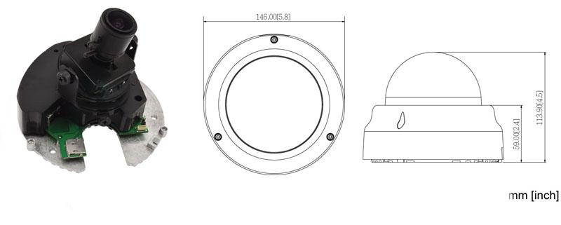 ACTi E67 - Kamery kopułkowe Mpix